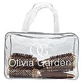 Olivia Garden NanoThermic Thermal Round Hair Brushes Bag 4pcs (24, 34, 44, 54mm) - Anti-Bacterial, Ceramic, Anti-Static, Tourmaline-Ion