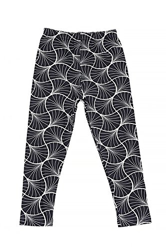 World of LeggingsKID'S Buttery Soft Abstract Curving Lines Kids Leggings - Small - Curving Lines