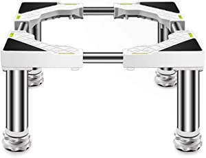 Washing Machine Refrigerator Base, with Adjustable Durable Stainless Steel Feet Refrigerator Stand for Fridge Freezer Furniture Roller Home Appliznce