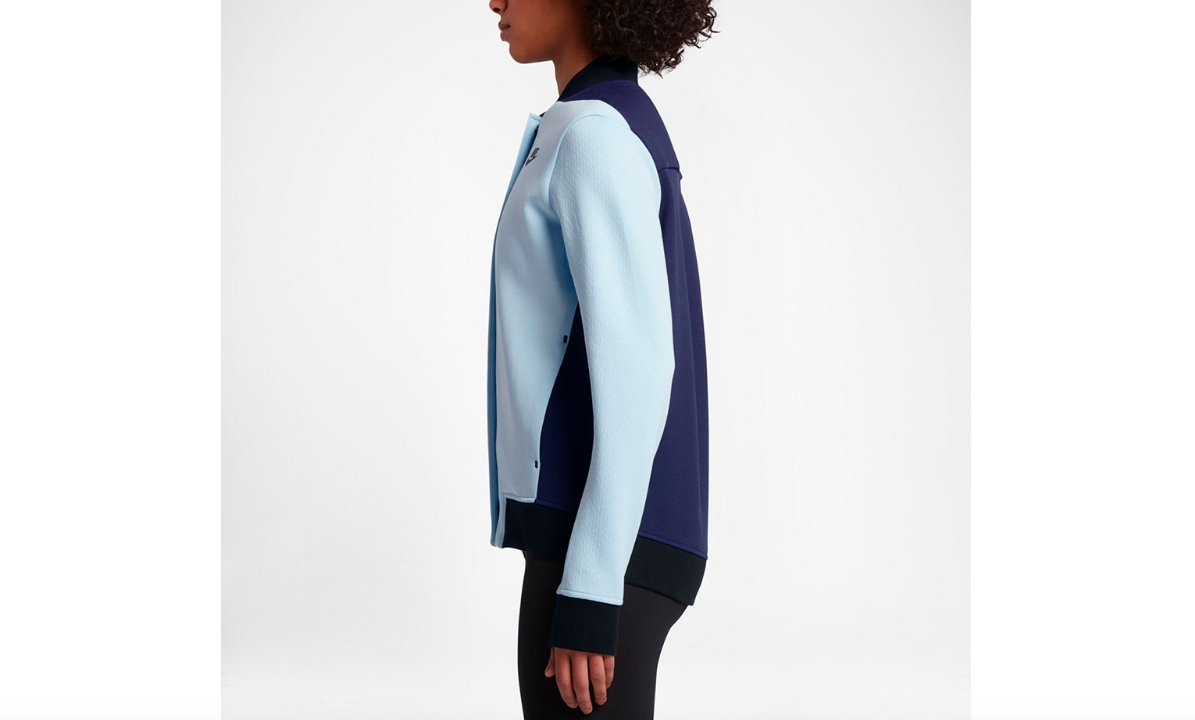 Nike Tech Fleece Destroyer Women's Jacket (S, Glacier Blue/Binary Blue/Black-Black) by Nike (Image #2)