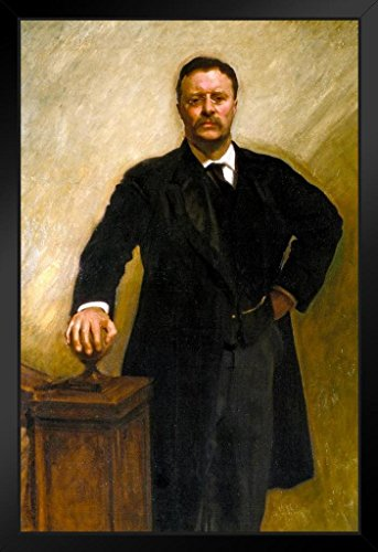 John Singer Sargent Theodore Teddy Roosevelt Rough Rider 1903 Oil On Canvas Painting Framed Poster by ProFrames 14x20 inch (Roosevelt Theodore Portraits)