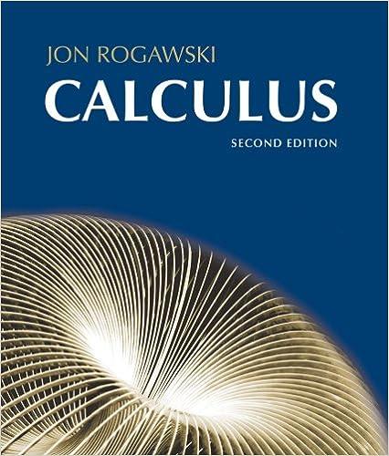 Calculus Jon Rogawski 9781429208390 Books