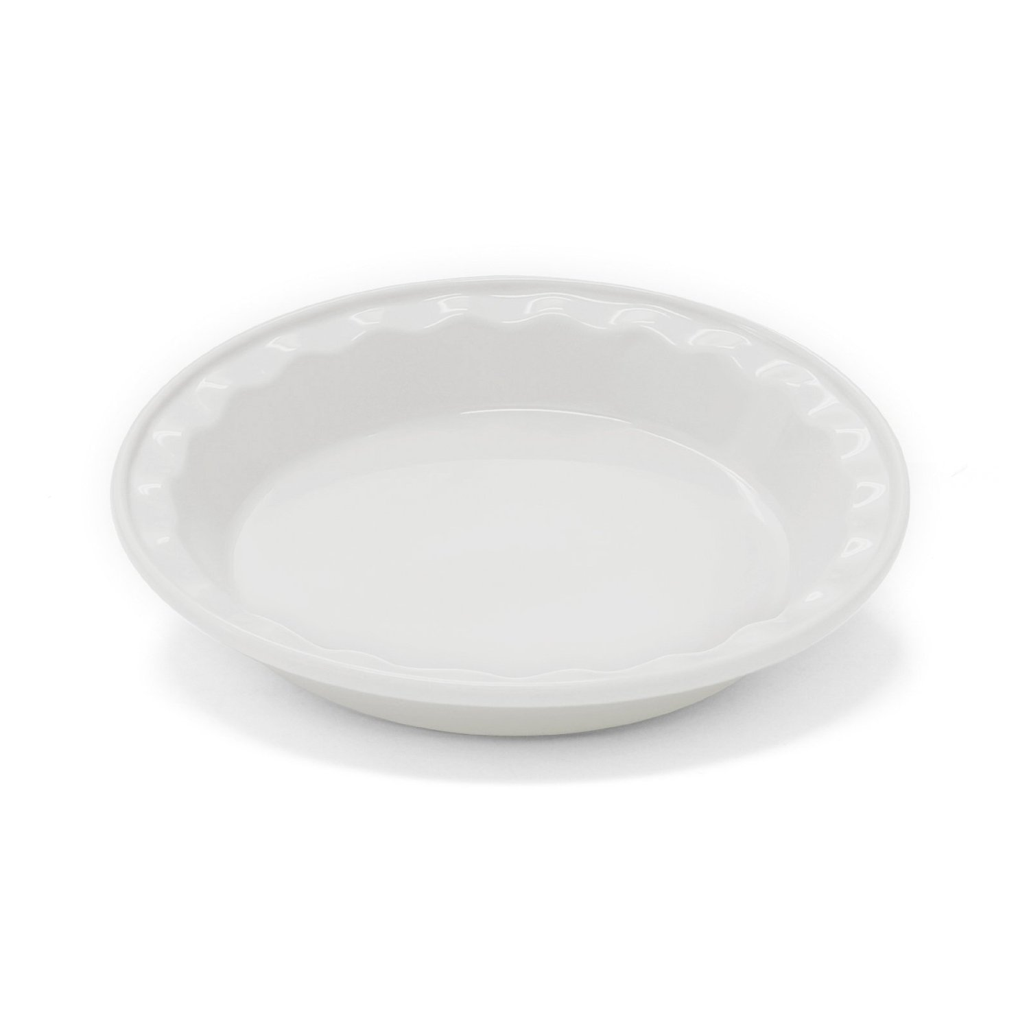 Chantal 9 Inch Easy As Pie-Dish, White