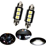 CICMOD 36mm Festoon CANBUS Error Free LED 3 5050 SMD 6418 C5W License Plate Dome Light Bulb 12V (Pack of 2)