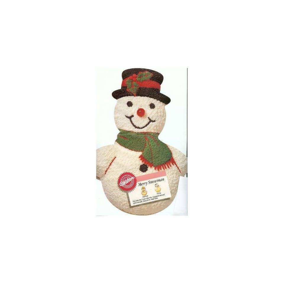 Wilton Merry Snowman Christmas Holiday Cake Pan (2105 803, 1989) Retired