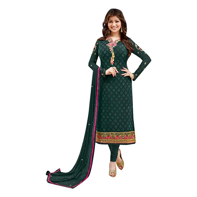 India Pakistani Straight Salwar hochzet Damen Kamiz Kameez Bollywood Vestido Chica Top Straight Pant Georgette Vestido