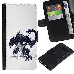 // PHONE CASE GIFT // Moda Estuche Funda de Cuero Billetera Tarjeta de crédito dinero bolsa Cubierta de proteccion Caso Sony Xperia Z3 Compact / Dragon Monster /