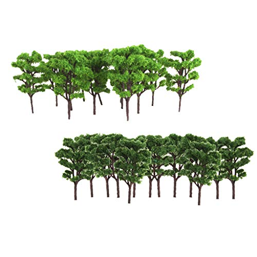 Fityle 40Pcs Plastic Green Train Railway Model Trees for sale  Delivered anywhere in USA