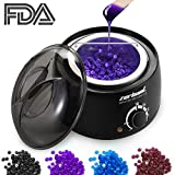 natural hair heater - 【15 in 1】 Wax Warmer Hair Removal Kit - 2018 Professional Painless Hot Waxing Kit With 4 Hard Wax Beans and 10 Wax Applicator Sticks Stripless Wax Heater Machine For Men Women Body Leg Eyebrow