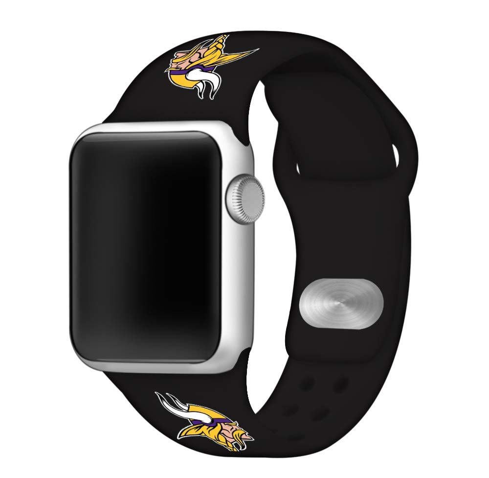 Game Time Minnesota Vikings Silicone Sport Band Compatible with Apple Watch - Band ONLY (42mm/44mm)