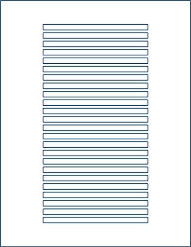 600-Pak =Matte Finish= CD/DVD =SPINE= Labels (25 sheets, 24 labels per sheet)