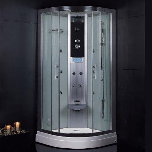 Plato de ducha de vapor de eago DZ934F3 de plata de 90 x 90 y ...