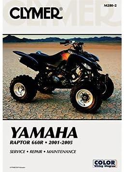 Amazon Com Clymer Repair Manuals For Yamaha Raptor 660 2001 2005 Automotive