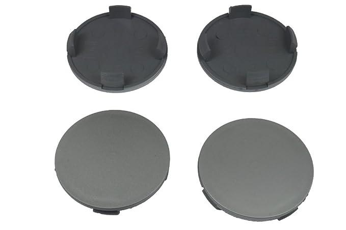 Innen 55,5mm Nabenkappen Radnabendeckel Schwarz 4x Felgendeckel Außen 58mm