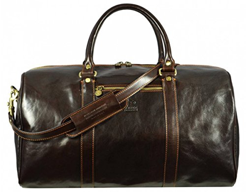 Dark Brown Ambassadors Duffel Bag by Time Resistance by Time Resistance