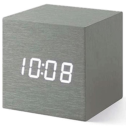 MOMA Collection - Alume Cube Clock mit LED Display