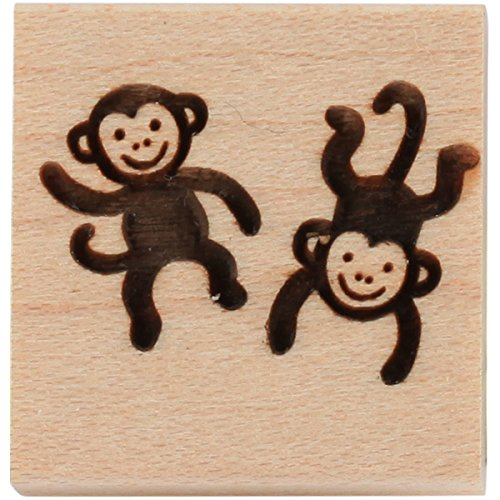 CLEARSNAP Wood Mount Stamps 1-inch-by-1-inch, 1.0 X 1.0, Monkey