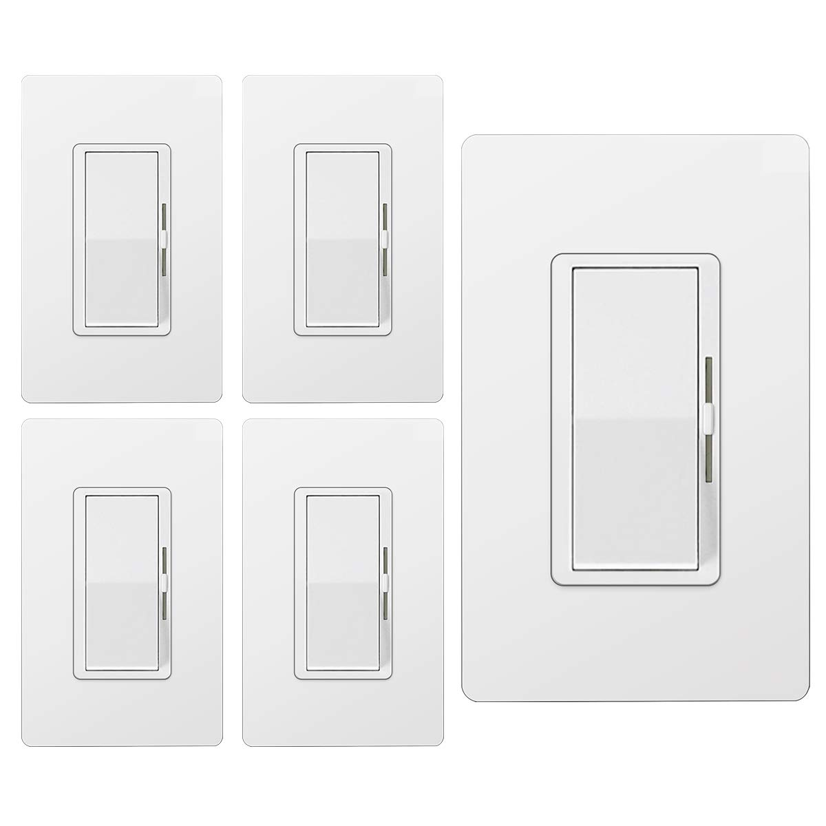 Dimmer Switches Screwless Wallplate Included White UL Listed ...