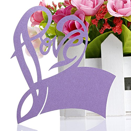 Kangnice 50pcs Wedding Decoration Purple