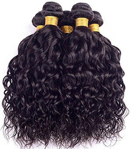 Price comparison product image Superwigy® Brazilian Virgin Hair Ntural Wave Brazilian Hair Weave Bundles Wet and Wavy Virgin Brazilian Curly 3pcs Lot 50g/pc Human Hair Extensions (3 Pcs   8 Inch)