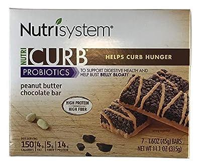 Nutrisystem NutriCurb Probiotics - Peanut Butter Chocolate Bar - 7 ct Box