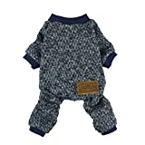 #10: Fitwarm Knitted Thermal Pet Clothes for Dog Pajamas PJS Coat Jumpsuit, Small