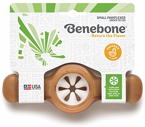 Benebone Pawplexer Interactive Treat Dispensing Tough Dog Puzzle Chew Toy, Made in USA, Small, Real...
