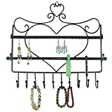 Wall Mount Heart Shape Jewelry Organizer Hanging Earring Holder Necklace Jewellry Display by ARADTM