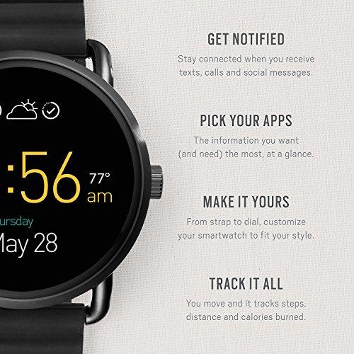Fossil Q Wander Gen 2 Black Silicone Touchscreen Smartwatch FTW2103