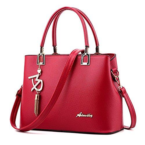 Womens Leather Crossbody Bag, Fashion Classic Big Capacity Shoulder Bag Daily Wild Messenger Bag ❤️Sumeimiya ()