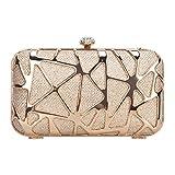 Fawziya Fashion Water Cube Box Purses For Women Evening Clutches -Rose Gold