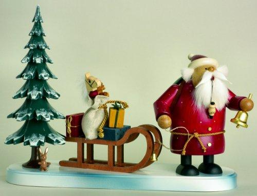 KWO Santa Sleigh German Christmas Incense Smoker Made in Germany Decoration New