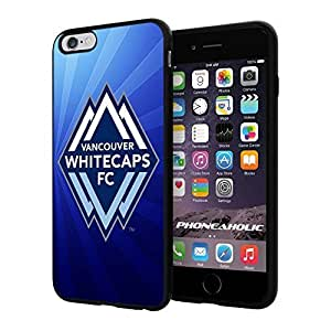 """Soccer MLS VANCOUVER WHITECAPS FC SOCCER CLUB Logo, Cool iPhone 4/4s (6+ , 5.5"""") Smartphone Case Cover Collector iphone TPU Rubber Case Black"""