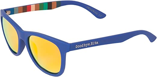 Goodbye, Rita. - Gafas de sol Polarizadas Color Azul - Lente espejo naranja - Modelo Turner