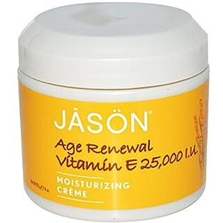 Jason Natural, Age Renewal Vitamin E, Moisturizing Creme, 25,000 IU, 4 oz (113 g)