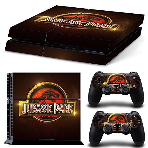 Price comparison product image Ps4 Playstation 4 Console Skin Decal Sticker Jurassic Park + 2 Controller Skins Set