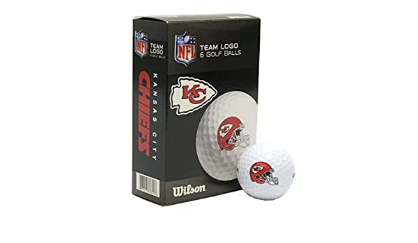 daab148a Amazon.com : NFL Kansas City Chiefs Golf Ball, Pack of 6 : Sports ...