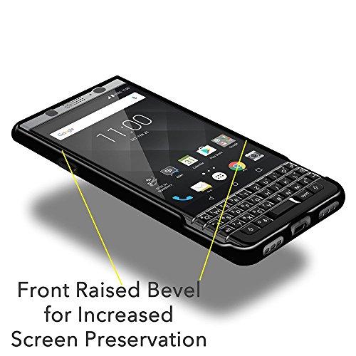BlackBerry KEYone Case, Premium Shockproof TPU Case [Pack of 2] Soft Gel Back Cover for BlackBerry KEYone - Cloudy Clear, Black, Pack of 2, Raised Bezel, Shock Absorption, Ultra Slim