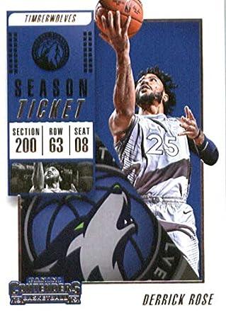 2018-19 NBA Contenders Season Ticket  71 Derrick Rose Minnesota Timberwolves  Official Basketball Card 88c2393d1