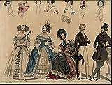 Gowns Bonnets Top Hat Coats nice 1837 beautiful