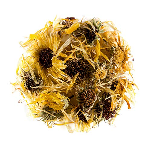 Calendula Organic Marigold Tea Flower - Great For Desserts - Whole Flowers Petals - Dry Petal Herb or Spice 100g 3.52 Ounce ()