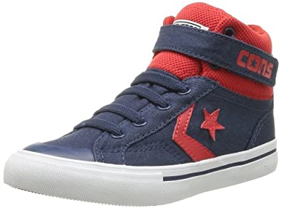 0467a7a3edcf Converse Junior Pro Blaze Strap Hi Navy Red (2 M US Little Kid)