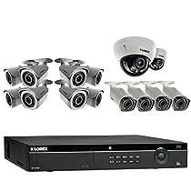 Lorex NR800 Series 1080P 16 Channel 3TB NVR 14 Camera System 4 1080P LNB3373B Motorized Bullet Cameras & 8 1080P LNB3143B 1080P Bullet Cameras and 2 LND3374B Motorized Dome Cameras