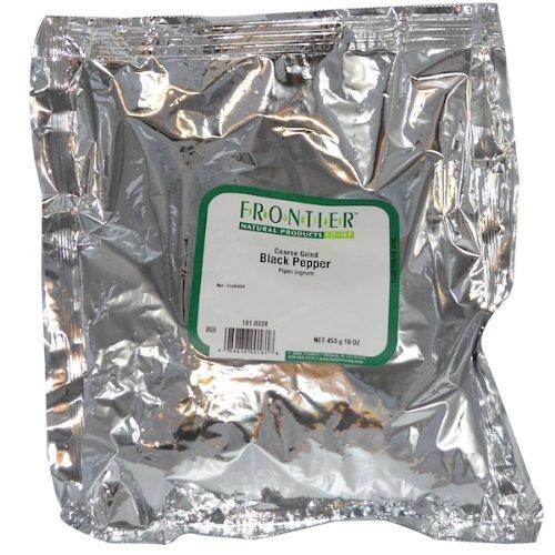 Frontier Herb Organic Black Coarse Grind Pepper, 1 Pound -- 1 each.