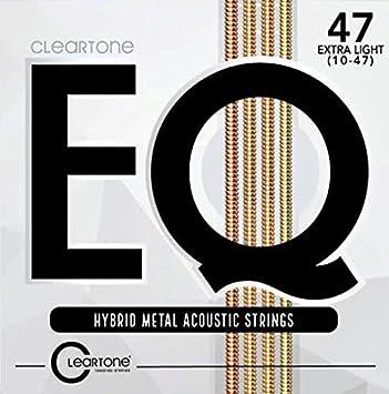 Cleartone EQ híbrida Metal cuerdas de guitarra acústica 10 - 47 ...