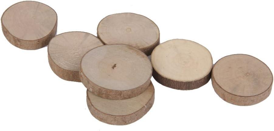 LoveinDIY 20pcs Boxwood Wood Slices for DIY Kids Crafts Wedding Decor 3-4cm