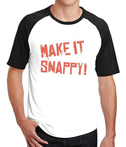 YuanSH Make it Snappy Raglan Sleeves Tshirts For Mens S - Stores Mall Louisiana