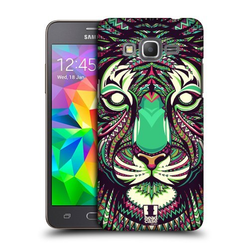 Head Case Designs Tiger Aztec Animal Faces Protective Snap-on Hard Back Case Cover for Samsung Galaxy Grand Prime 3G 4G Duos LTE G530