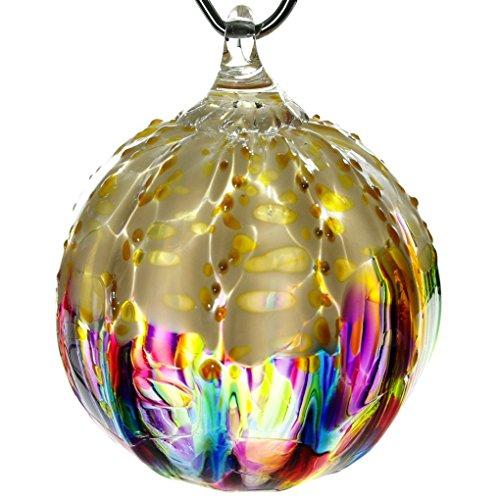 Glass Eye Studio Hand Blown Glass Ornament - Rainbow Sprinkle -
