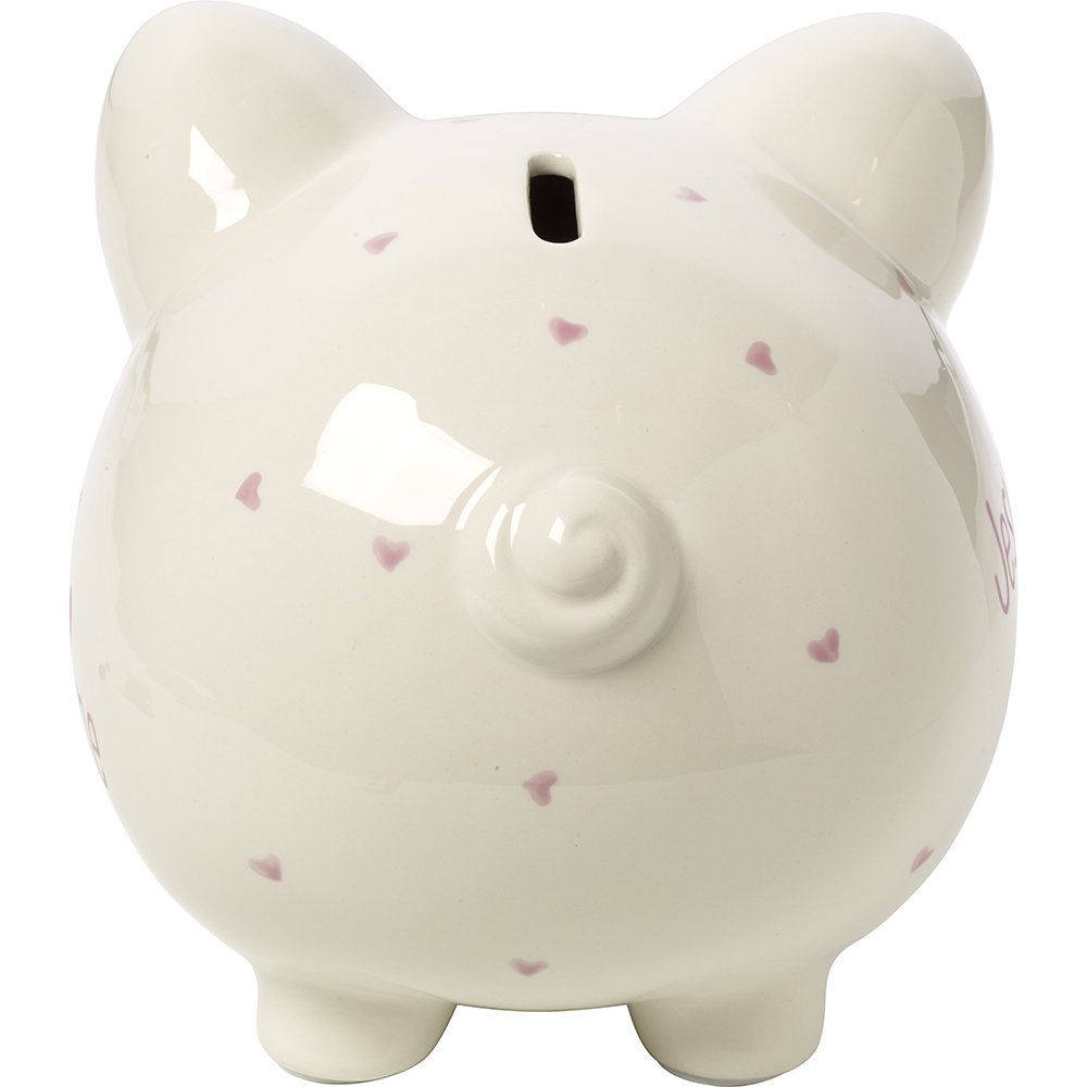 Precious Moments,  Jesus Loves Me, Ceramic Piggy Bank, Girl, 164460 by Precious Moments (Image #5)